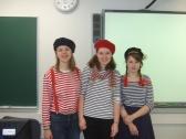 les trois professeurs du jour au collège de Tapiola